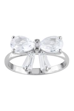 Topaz & Diamond Bow Ring დ
