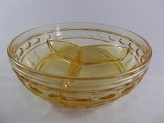 Fostoria Hermitage Elegant Glass Yellow Topaz 3 Part by acornabbey