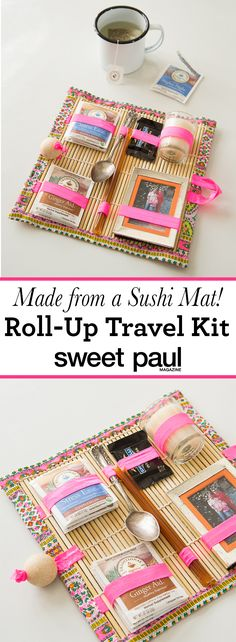 18 Ideas Sewing Kit Travel Christmas Gifts For 2019 Christmas Travel, Christmas Gifts, Sushi Mat, Sweet Paul, Travel Kits, Travel Hacks, Travel Bag, Travel Ideas, Sewing Kit