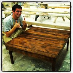 Recycled Wood Coffee Table by TheSouthernLife on Etsy, $250.00