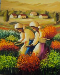 Lourdes Silva Painting People, Artist Painting, Pictures To Paint, Art Pictures, Acrylic Painting Inspiration, African American Art, Mexican Art, Cubism, Beautiful Paintings