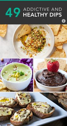 The next time there's a party (and we're even talking solo dance parties here), try one of these recipes for chip partners made with everything from Greek yogurt to goat cheese. #dips #party #recipes https://greatist.com/eat/healthy-dip-recipes
