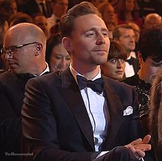 Tom Hiddleston. #BAFTA Film Awards 2017. Via Twitter.