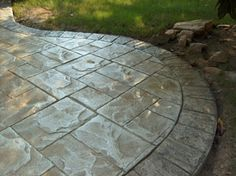 Specialising in all types of decorative concrete paving and only using the finest quality materials, the Australian Concrete Driveways company offers laying . Concrete Patios, Stamped Concrete Driveway, Outside Living, Outdoor Living, Outdoor Decor, Pool Paving, Flagstone Walkway, Backyard Landscaping, Backyard Designs