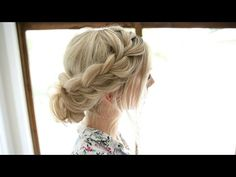 Soft Lace Braid - Easy Romantic Updo - YouTube