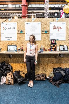 This Lady Representing Socialcue At The Web Summit Is Going To Go Far But I Forget To Ask Her Name -  #infomatique