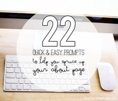 22 quick and easy prompts to help you spruce up your about page for your blog | By Peacoats and Plaid for Plucky's Second Thought