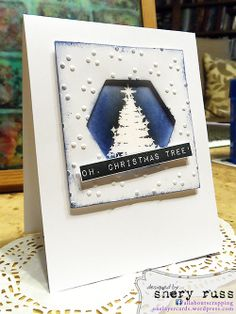 Paper crafting project no. 71: Oh, Christmas tree! using stamps in the Oh, Christmas Tree! clear stamp set (stamplorations.com)