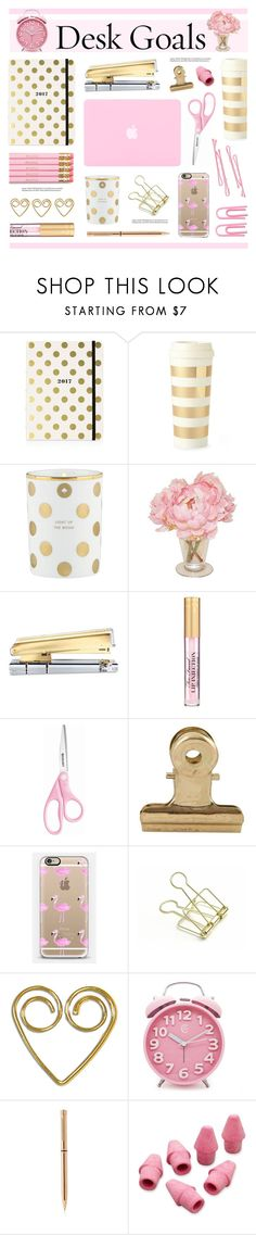 """Desk Goals: Pretty Workspaces"" by lgb321 ❤ liked on Polyvore featuring interior, interiors, interior design, home, home decor, interior decorating, Kate Spade, The French Bee, russell+hazel and House Doctor"