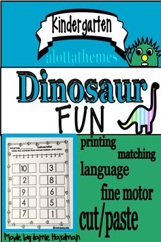 Dinosaur Math and Literacy Centers are loaded with fun, hands on dinosaur themed activities to help Kindergarten Activities, Preschool, Time Activities, Motor Activities, Activity Centers, Literacy Centers, Build Math, The Good Dinosaur, Writing Numbers