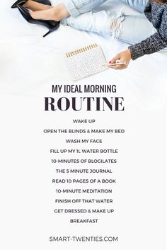 Morning Routine Want to create a healthy daily habit or replicate the habits of successful people? An easy morning routine is the perfect way to start! Get relatable tips and advice to create your personalised morning routine. Evening Routine, Night Routine, Yoga Routine, Self Care Routine, Bedtime Routine, Morning Habits, Morning Routines, Daily Routines, Healthy Morning Routine