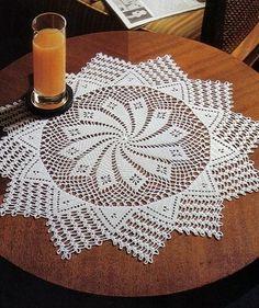 Spiral crochet doily