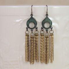 Classy Fringe Earrings, Vintage Style Jewelry, Christine Marie Studio