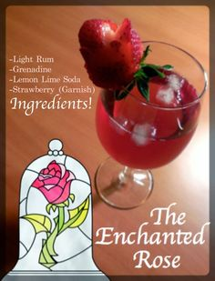 Young Adult Disney: The Enchanted Rose Cocktail