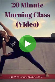 20 Minute Morning Yoga Class - Vinyasa Flow (Video) Argentina Rosado Yoga - New York Morning Yoga Sequences, Morning Yoga Flow, Morning Yoga Routine, Yoga Vinyasa, Ashtanga Yoga, Iyengar Yoga, Yin Yoga, Yoga Inspiration, Yoga Quotidien