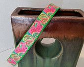 Trendy Lilly Pulitzer inspired dog collars