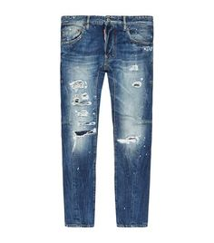 DSQUARED2 Destroyed Biker Jeans. #dsquared2 #cloth #