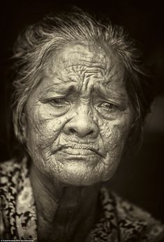 A portrait of one of the female eldersof the Badjao tribe. The population is ageing as younger generations choose life on land