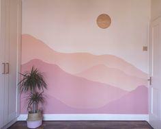Wall Murals Bedroom, Bedroom Wall Designs, Bedroom Decor, Mural Wall, Wall Painting Decor, Creative Wall Painting, Aesthetic Room Decor, Room Paint, Baby Decor