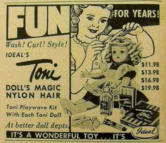 Toni Vintage Doll 1950s Advertisement by Christian Montone, via Flickr