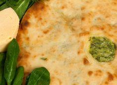 осетинский пирог с сыром и свекольными листьями фото