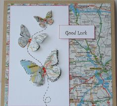 A multi-use card - Good Luck in your new home, new job etc. or for those going away on Gap years or long holidays perhaps. Available from www.purplepawcrafts.com