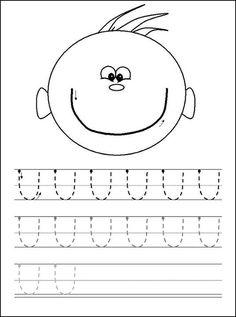 Curves Up Tracing Practice Line Tracing Worksheets, Alphabet Worksheets, Preschool Worksheets, Kids Activity Books, Book Activities, Prewriting Skills, Printing Practice, Alphabet Board, Preschool Class