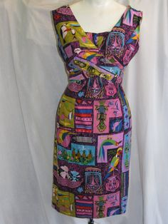 1960s vintage Disneyland Enchanted Tiki Room dress, MTvintageclothing, Etsy.