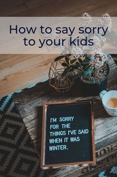 I couldn't count how many times I have botched things with my teenagers and when it happens, the only right thing to do, is to say I'M SORRY. Raising Teenagers, Parenting Teenagers, Home Quotes And Sayings, Wisdom Quotes, Parenting Humor, Parenting Advice, Troubled Teens, Say Im Sorry, Family Rules