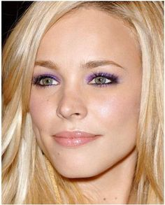 We love the fearless use of purple on Rachel McAdams-kudos to her makeup artists that night!