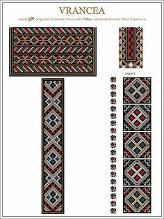 Semne Cusute: ie din MOLDOVA, Vrancea, Vidra Embroidery Motifs, Moldova, Hama Beads, Traditional Outfits, Beading Patterns, Pixel Art, Cross Stitch Patterns, Tapestry, Sewing