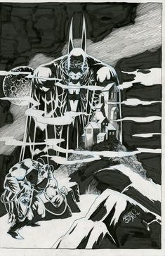 Kelley Jones Detective Comics #31 cover  Comic Art