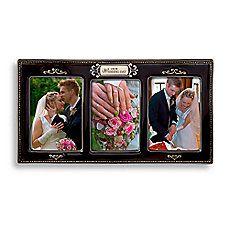 image of Our Wedding Day Black Ceramic Glazed Frame