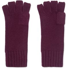 N.PEAL   Cashmere fingerless gloves (2.485 RUB) ❤ liked on Polyvore featuring accessories, gloves, fingerless gloves, burgundy gloves, cashmere gloves and cashmere fingerless gloves