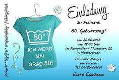 10 Einladungskarten 30 40 50 60 Geburtstag Einladungen Geburtstagseinladung  In Möbel U0026 Wohnen, Feste U0026