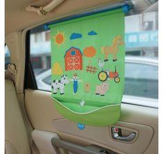 Koo-di Car Window Fuzzi Fun Baby Blind With Stickable Farmyard Animal Figures for sale online Window Roller Shades, Window Sun Shades, Sun Blinds, Shades Blinds, Fuzzy Felt, Farm Yard, Traveling With Baby, Cool Baby Stuff, Baby Car Seats