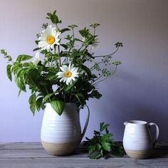 Farmhouse Pottery Farmer's Pitcher #floralinspiration #garden #freshflowers