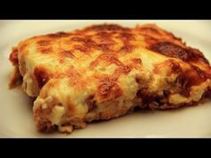 Baked Chicken and Potatoes with Bechamel Sauce Recipe - YouTube