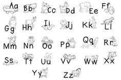 free zoo phonics coloring pages - photo#34