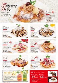 68 Cafe Menu Design, Food Menu Design, Restaurant Menu Design, Food Kiosk, Menu Flyer, Bubble Waffle, Food Banner, Desserts Menu, Food Presentation