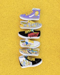 The Simpsons x Vans Vans Slip On, Rubber Shoes, The Simpsons, Bmx, Skateboard, Sneakers, Kids, Fashion, Skateboarding