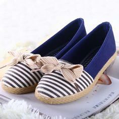 nova 2014 deslizar sobre sapatilhas sapatilhas apartamentos alpargatas alpercatas sapatos femininos casuais sapatas de lona bowtie apartamentos 10.99