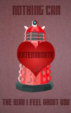 Valentine's Day Card Doctor Who Dalek