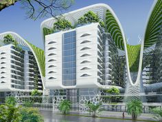The Gate Residence to be built in Cairo, featuring a solar roof and green terraces. [Future Architecture: http://futuristicnews.com/category/future-architecture/]. Más sobre ciudades sostenibles en www.solerplanet.com