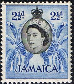 Jamaica 1956 Queen Elizabeth and Bananas Fine Mint SG Scott 162 Other West Indies and British Commonwealth Stamps HERE!