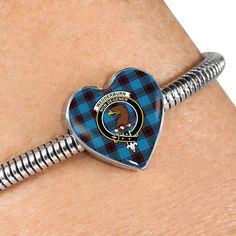 Maule Tartan Crest Heart Bracelet – Your Tartan Working Mother, Working Moms, Scottish Tartans, Everyday Items, Heart Bracelet, Bangles, Bracelets, Heart Charm, 18k Gold