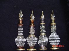 Antique perfume bottles--I remember how much you loved those ones I got at Raley's! Alas, all but one or two got broken. :/