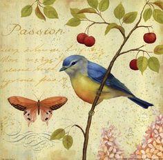 #vintagebirds #decoupage //  Encontrado en manualidades.facilisimo.com