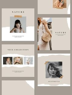 **Social Media Kit** 6 different design and square layouts. Instagram Feed Ideas Posts, Instagram Feed Layout, Instagram Grid, Instagram Design, Design Food, Graphisches Design, Design Layouts, Photo Layouts, Social Media Template