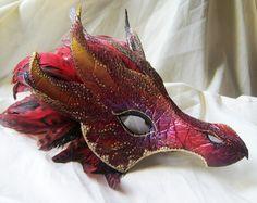 Masque de Dragon rouge par LaPetiteMascarade - Etsy